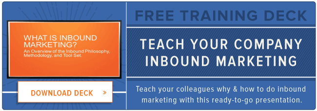 inbound marketing training deck