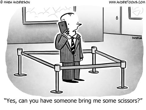 Queue Business Cartoon