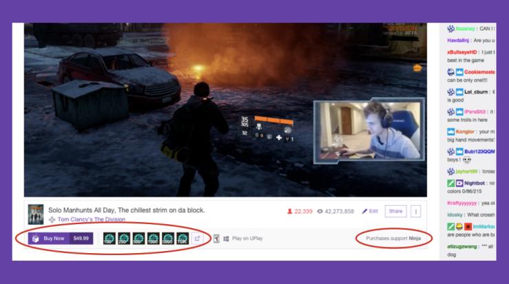 Make Money when Watchers Buy Games on Twitch