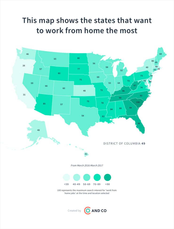 States Most Interested in Working from Home Work