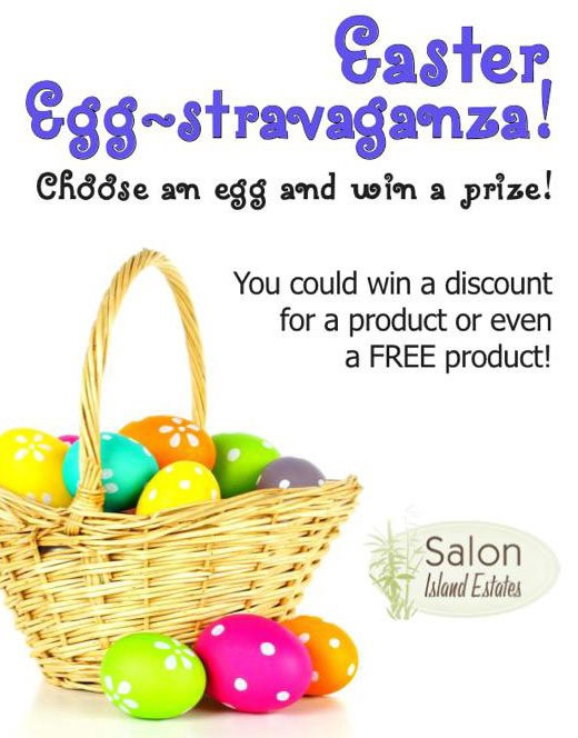 20 Fun Examples of Non-Traditional Easter Promotions - Salon Island Escapes Easter Egg-Stravaganza