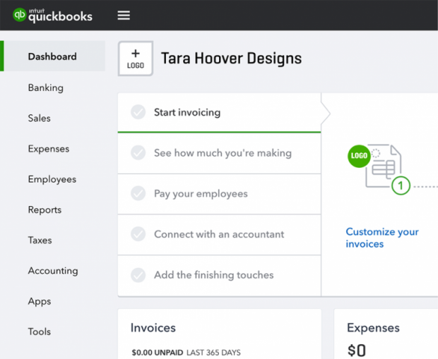 "QuickBooks Online Navigation Changes - Home is now called ""Dashboard."""
