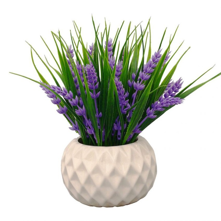 25 Office Desk Plants - Artificial Lavender