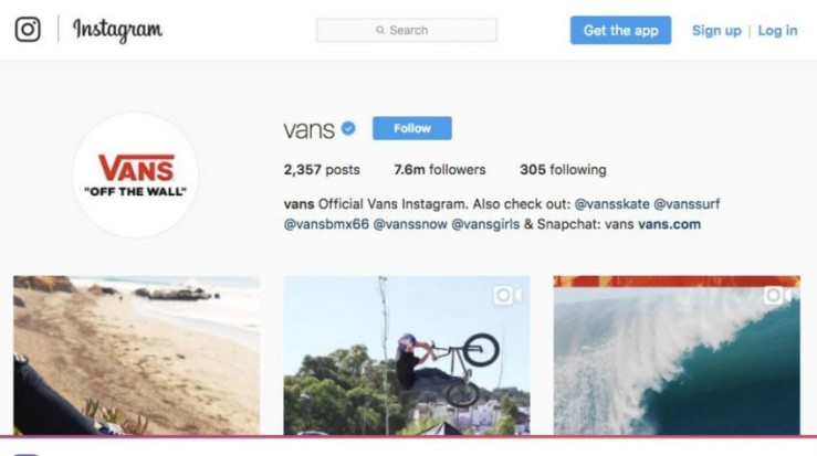 50 Most Creative Instagram Bio Examples for Business Users - Vans