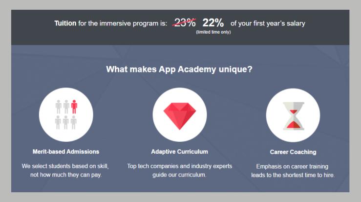 App Academy Tuition Innovation