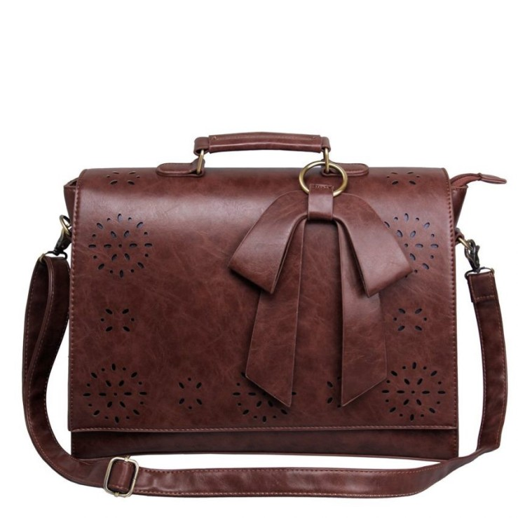 25 Travel Accessories for Women - ECOSUSI Faux Leather Briefcase