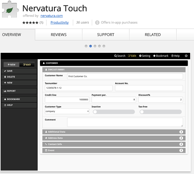 Best Chrome Extensions for Small Business - Nervatura Touch – Data Manager