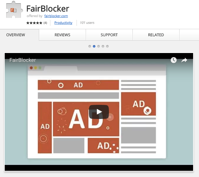 Best Chrome Extensions for Small Business - FairBlocker – Ad Blocker with Support