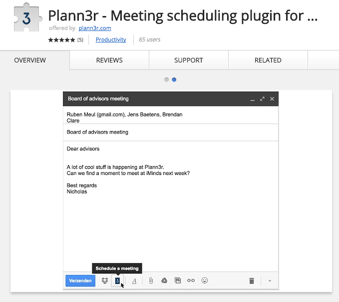 Best Chrome Extensions for Small Business - Plann3r – Meeting Scheduler for Gmail