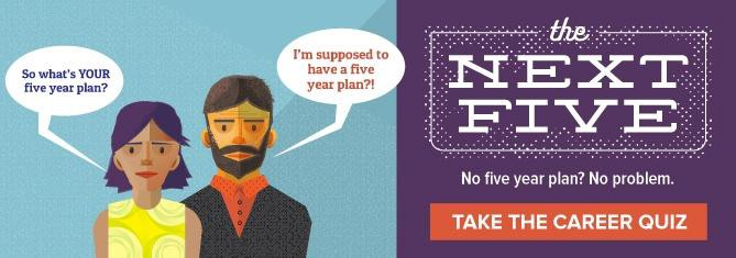 take our five-year career plan quiz