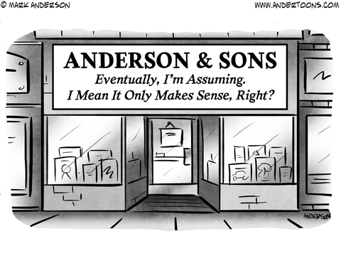 Family Business Planning Business Cartoon